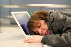 Asleep at computer from guest posting