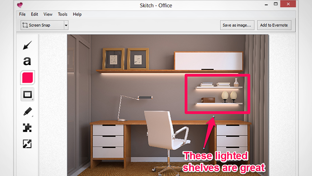 Annotate screenshots with Skitch